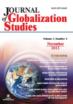 Journal of Globalization Studies. Volume 3, Number 2 / November 2012