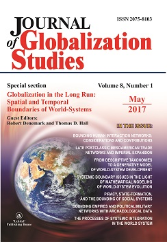 Journal of Globalization Studies. Volume 8, Number 1 / May 2017