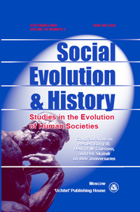 Social Evolution & History. Volume 19, Number 2 / September 2020