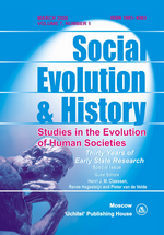 Social Evolution & History. Volume 7, Number 1 / March 2008