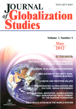 Journal of Globalization Studies. Volume 3, Number 1 / May 2012